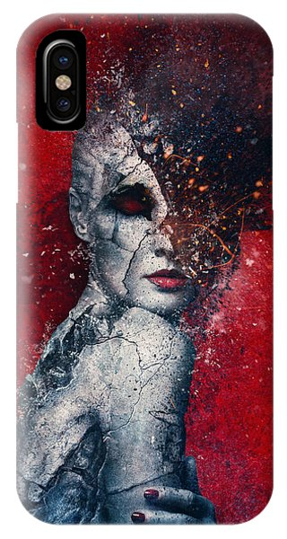 Texture iPhone Case - Indifference by Mario Sanchez Nevado