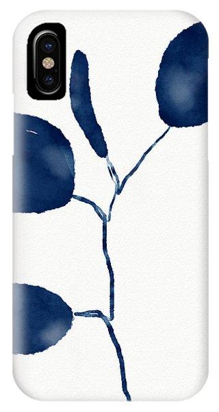 Watercolor iPhone Case - Indigo Eucalyptus 2- Art By Linda Woods by Linda Woods