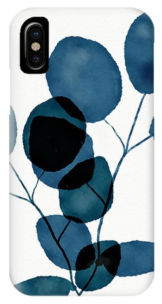 Watercolor iPhone Case - Indigo Eucalyptus 3- Art By Linda Woods by Linda Woods