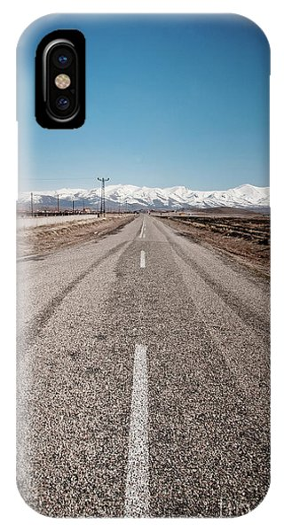 infinit road in Turkish landscapes IPhone Case