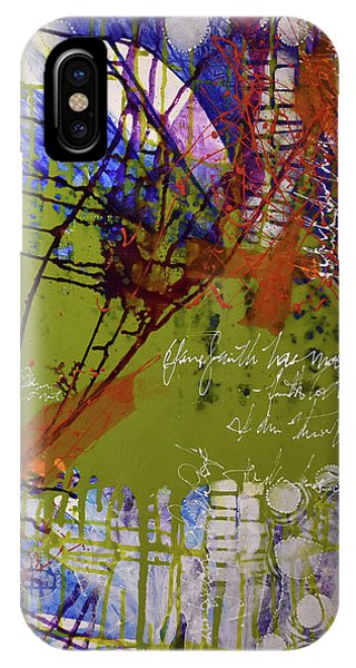 IPhone Case featuring the mixed media Inner Faith by Kate Word