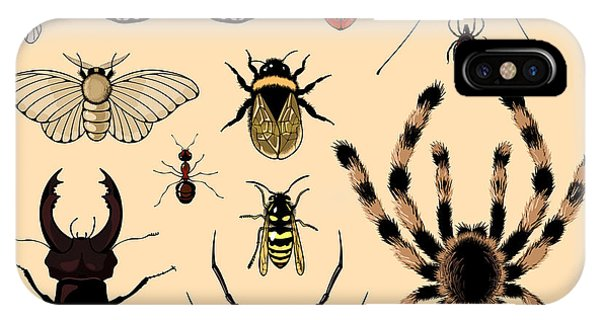Bee iPhone X Case - Insects by Alena Kozlova