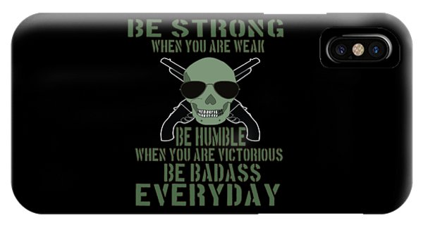 Sports Clothing iPhone Case - Inspirational Victorious Tee Design Be Badass Everyday by Roland Andres