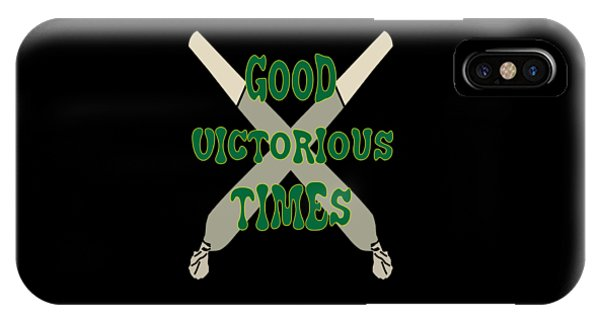 Sports Clothing iPhone Case - Inspirational Victorious Tee Design Good Victorious Times by Roland Andres
