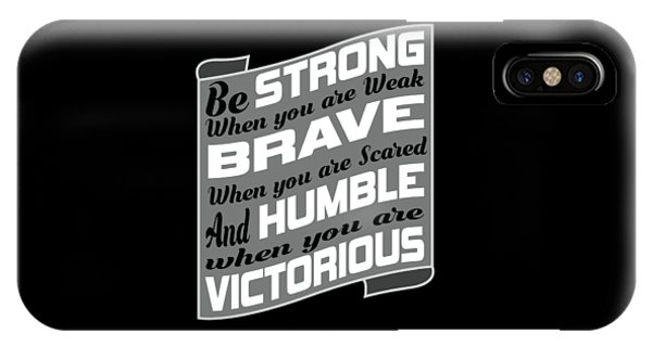 Sports Clothing iPhone Case - Inspirational Victorious Tee Design Humble Victorius by Roland Andres