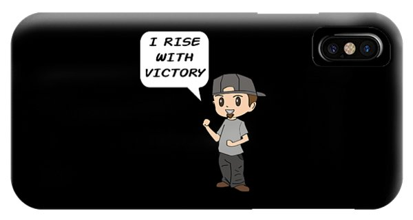 Sports Clothing iPhone Case - Inspirational Victorious Tee Design I Rise by Roland Andres