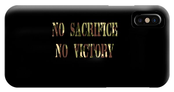 Sports Clothing iPhone Case - Inspirational Victorious Tee Design Sacrifice by Roland Andres
