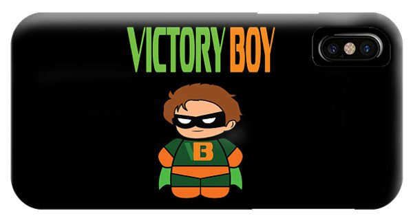 Sports Clothing iPhone Case - Inspirational Victorious Tee Design Victory Boy by Roland Andres