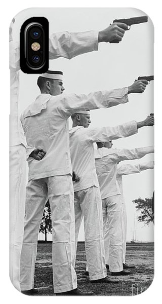 Naval Academy iPhone Case - Instruction In Pistol Shooting At Us Naval Academy, Annapolis, Maryland, 1942 by American School