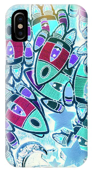 Cartoon iPhone Case - Intergalactic Abstract by Jorgo Photography - Wall Art Gallery