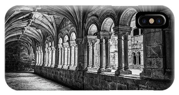 Interior Corridors Of The Monastery Of Santo Estevo De Ribas Del Sil IPhone Case