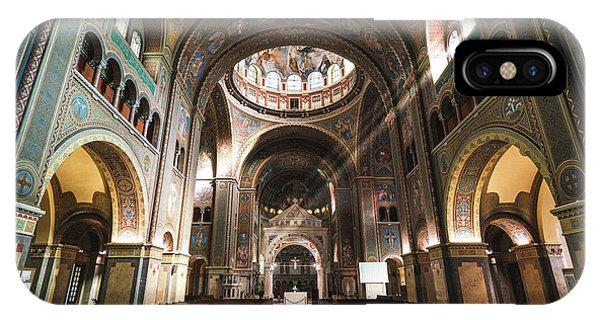 Interior Of The Votive Cathedral, Szeged, Hungary IPhone Case