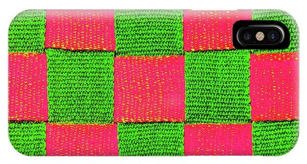 Interlaced Canvas Straps 2 IPhone Case