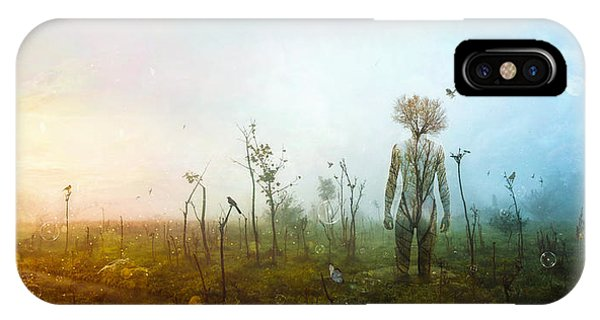 Flying iPhone Case - Internal Landscapes by Mario Sanchez Nevado