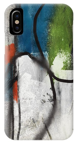 Texture iPhone Case - Intersection 40- Art By Linda Woods by Linda Woods