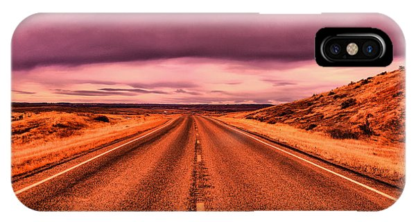 Middle Of Nowhere iPhone Case - Into Nothingness  by Jeff Swan