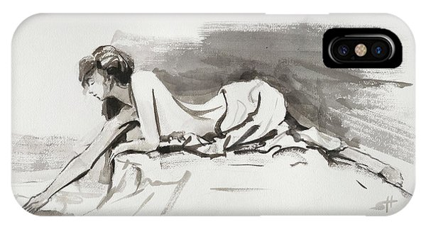 Abstract Figurative iPhone Case - Introspection by Steve Henderson