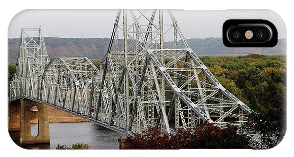 Iowa - Mississippi River Bridge IPhone Case