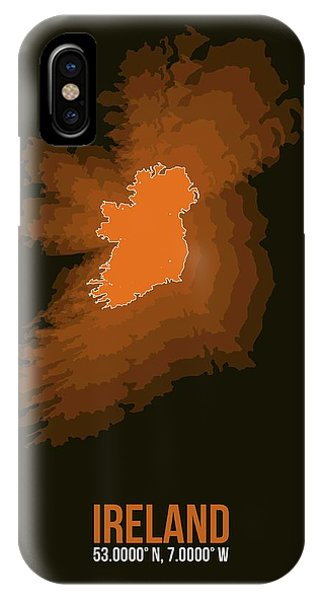 Irish iPhone Case - Ireland Radiant Map 3 by Naxart Studio