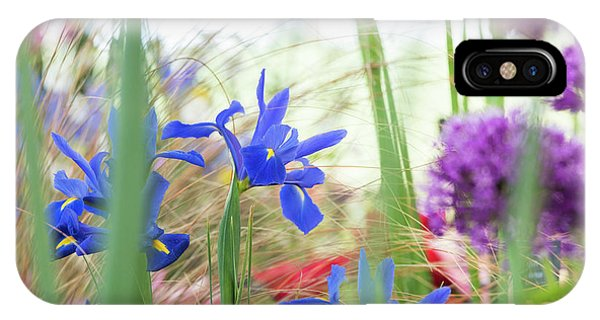 IPhone Case featuring the photograph Iris Hollandica 'professor Blaauw' On Display by Tim Gainey