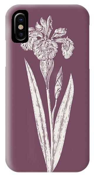 Bouquet iPhone X Case - Iris Purple Flower by Naxart Studio