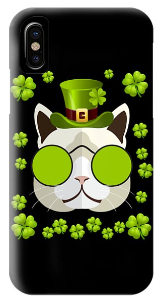 St. Patricks Day iPhone Case - Irish Leprechaun Cat by Flippin Sweet Gear