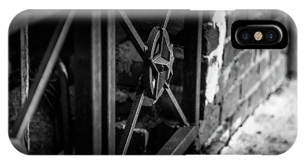 IPhone Case featuring the photograph Iron Gate In Bw by Doug Camara
