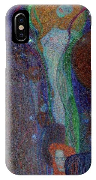 Cunning iPhone X Case - Irrlichter - Ghost Lights  by Gustav Klimt