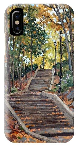 Isham Park Steps New York Autumn IPhone Case