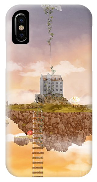 Illusion iPhone Case - Island In The Sky. Illusion by Ganna Demchenko