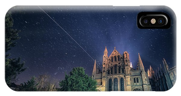 Iss Over Ely Cathedral IPhone Case