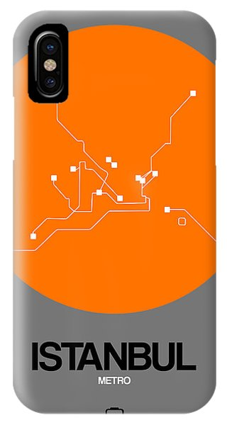 Turkey iPhone Case - Istanbul Orange Subway Map by Naxart Studio