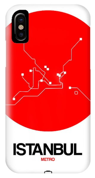 Turkey iPhone Case - Istanbul Red Subway Map by Naxart Studio
