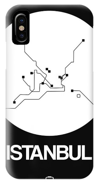 Turkey iPhone Case - Istanbul White Subway Map by Naxart Studio