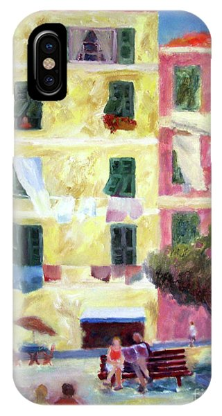 Italian Piazza With Laundry IPhone Case