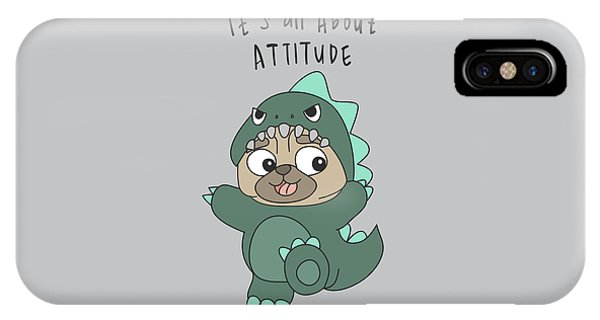 It's All About Attitude - Baby Room Nursery Art Poster Print IPhone Case