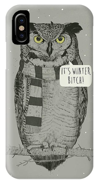 Winter iPhone Case - It's Winter Bitch by Balazs Solti