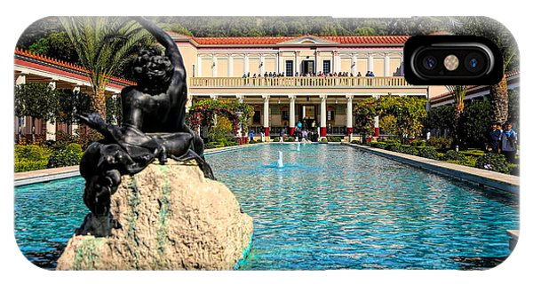 J Paul Getty iPhone Case - J Paul Getty Villa Pacific Palisades California by Chuck Kuhn