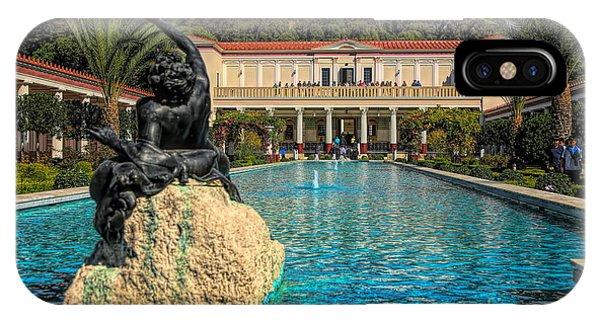 J Paul Getty iPhone Case - J Paul Getty Villa Pool Roman Culture California  by Chuck Kuhn