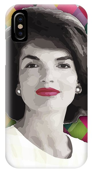 IPhone Case featuring the painting Jackie Geometric by Carla B