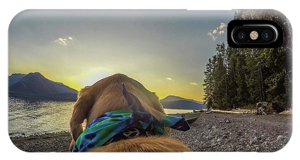 IPhone Case featuring the photograph Jackson Lake Sunset By Photo Dog Jackson by Matthew Irvin