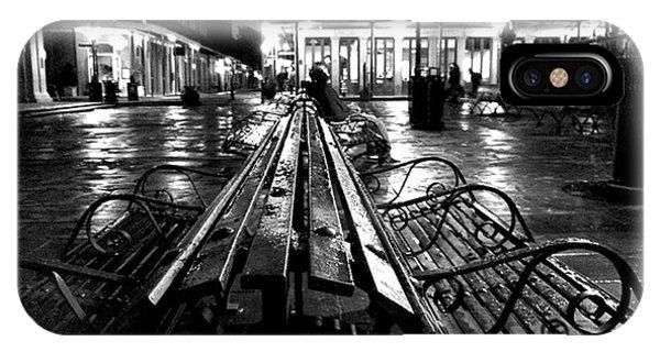 Jackson Square In The Rain IPhone Case