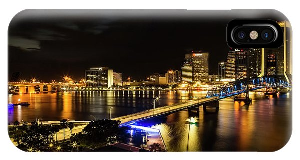 Jacksonville Skyline By Night IPhone Case