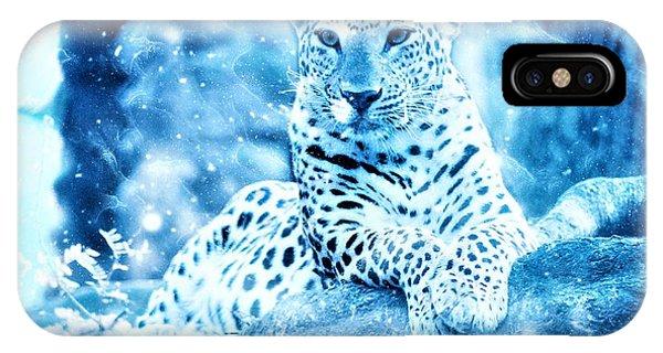 Snow Leopard iPhone Case - Jaguar, Panther by ArtMarketJapan