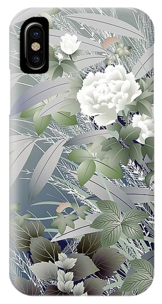 Peony iPhone Case - Japanese Modern Interior Art #39 by ArtMarketJapan