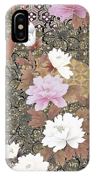 Peony iPhone Case - Japanese Modern Interior Art #43 by ArtMarketJapan