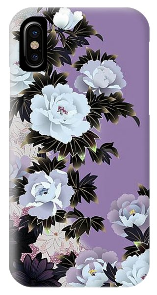 Peony iPhone Case - Japanese Modern Interior Art #45 by ArtMarketJapan