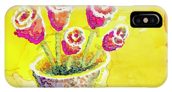 Jaunty Rosebuds IPhone Case