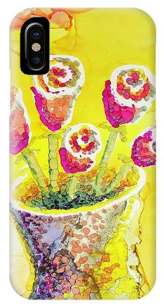 Jaunty Rosebuds IPhone Case
