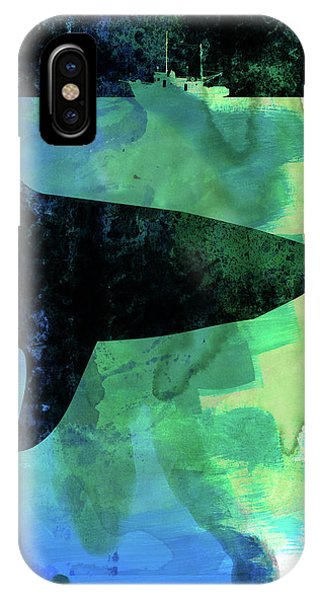 Film iPhone Case - Jaws Watercolor by Naxart Studio
